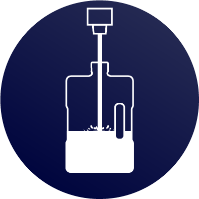 water jug being refilled icon navy blue