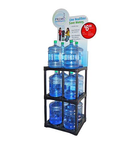 water exchange rack 12 bottle display
