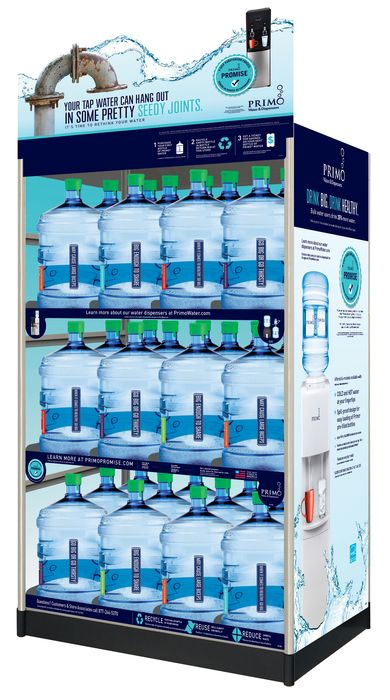 water exchange rack 36 bottle display