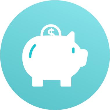 Savings icon piggy bank